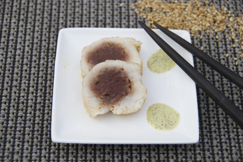 Fresh tuna stuffed pangasius