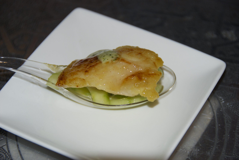 Pangasius Fish marinated in honey and mustard.