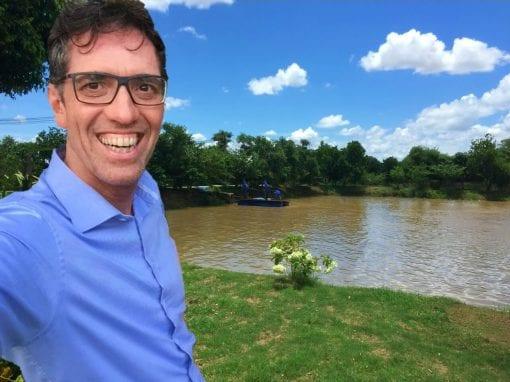 Alfons at the panga farm