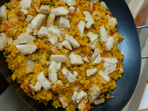 Paella with pangasius –Your everyday fish
