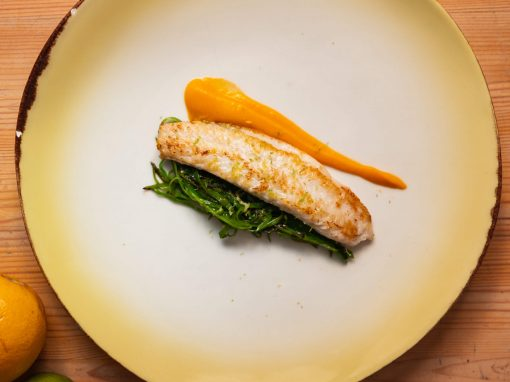 Pangasius, hot pumpkin, and snow peas –Your everyday fish